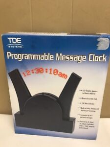 Tde Systems Programmable Message Clock Led Floating Message Display New