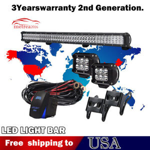 39inch 252w Led Light Bar Off Road Driving Fog Light Combo With Free Wiring Kit