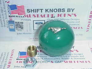 1979 2004 Ford Mustang Licenced Shift Knob green