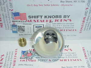 Crystal Clear Skull Custom Shift Knob Car Truck Motorcycle Hot Rod