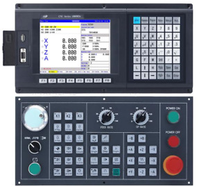4 Axis Cnc Milling Controller support Absolute G Code Control Panel Atc Plc