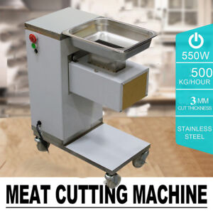 Shop Commercial Meat Slicer Meat Cutting Machine Cutter 500kg hour Canteen Tool