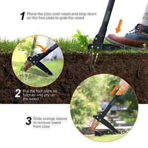 Weeder Tool TACKLIFE  Automatic Spring Device 39-Inch Stand-up Weed Grip Removal