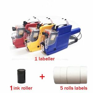 1 30pcs Mx 6600 10 Digits 2 Lines Eos Price Tag Gun 5roll White Lables Ink Lot