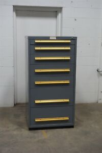 Used Equipto 7 Drawer Cabinet Industrial Tool Storage 1510 Vidmar