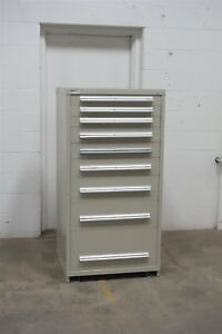 Used Vidmar 9 Drawer Cabinet Industrial Tool Box Parts Storage 672 Equipto