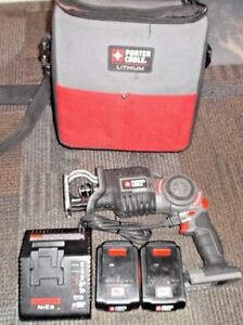 Porter Cable Clam Saw Pcc475 18v W 2 Batteries Charger Excellent