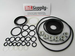 Meyer Snow Plow Pump E46 E47 E57 E57 H E58 H Basic Seal Kit W Nuts 15254