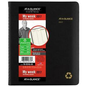 At a glance Weekly monthly Appointment Book planner 2017 6 7 8 X 8 3 4