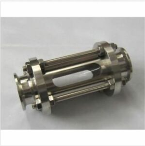Stainless Steel 2 51mm Flow Sanitary Sight Glass Tri Clamp 304 With Steel Cage