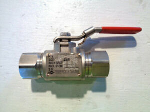 Lot Of 6 Kf Threaded Grooved End Floating Ball Valve 1 2