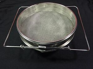 Metal Double Honey Sieve Beekeeping Bees Equipment