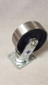 Rwm Casters 47 Series Medium Duty Kingpinless Swivel Caster 6 Steel Wheel