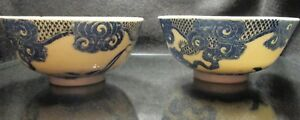 Late 19th Early 20th Rare Blue White Japanese Porcelain Bowl Nippon