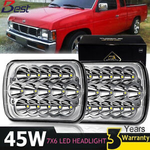 Led Hi Low Sealed Beam 7x6 Headlight Crystal Clear 90 97 For Nissan Pickup 240sx