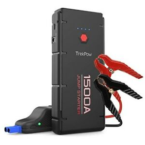 1500a peak car jump starter 6 5l diesel portable battery booster power pack new