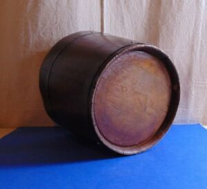 Antique Staved Wooden Bucket From English 19th Century Or Earlier Restored