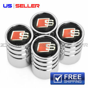 Valve Stem Caps Chrome Wheel Tire For S Line Audi Sline Ve37 Us Seller