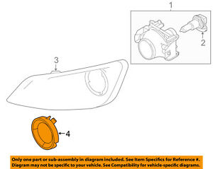 Lincoln Ford Oem 09 16 Mks Front Bumper trim Ring Left 8a5z17e811ab