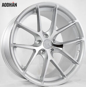 Aodhan Ls007 20x9 30 35 5x112 Silver Machined Non staggered Wheels set Of 4