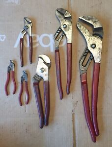 Blue point Tools 6 piece Adjustable Channel Lock Groove Joint Pliers Set Usa