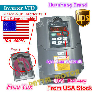 usa Stock 2 2kw 220v Inverter Vfd 3hp 10a Vsd Variable Frequency Drive For Cnc