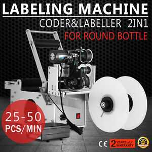 Lt 50d Bottle Labeling Machine Date Code Printer Power save Electronic No Crease