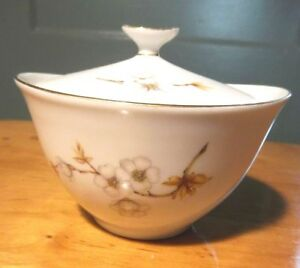 Bavarian China Sugar Bowl With Lid Collectible Hand Painted Made In Germany