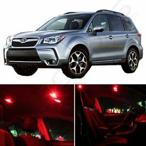 11x Car Bulbs Interior Package Kit For Subaru Forester 2009 2017 Red Led Lights
