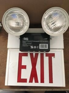 Red Exit Light With Emergency Lights Led Ac Sure lites 1 Or 2 Sided Unh1srwdh
