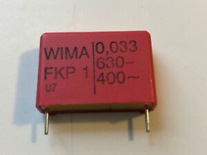New 1pc Wima Polypropylene Pulse Capacitor Fkp1 0 033uf 630v Dc 400 Vac 5 Audio