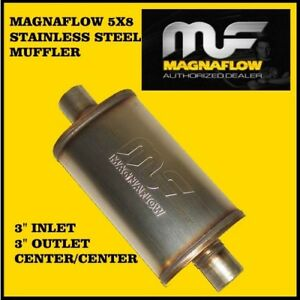 Magnaflow 3 Inch Inlet Outlet 5x8 Oval Muffler Center Stainless Steel Ss