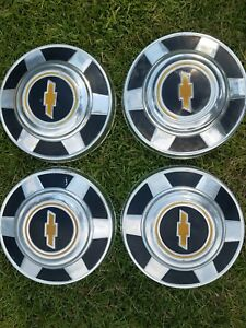 1976 95 Chevy 3 4 Ton Pickup Truck Van Dog Dish Hubcaps Set Of 4