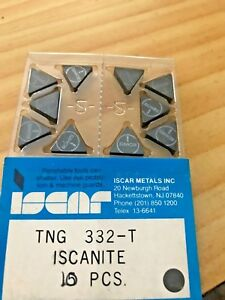 Iscar Ceramic Inserts Tng 332 t Iscanite Qty 10 New