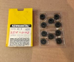 Kennametal Ceramic Inserts Rnga 43t K090 Qty 10 New