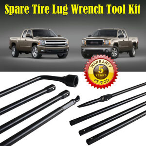 Hot Spare Tire Lug Wrench Jack Tool Kit For Chevy Gmc Cadillac Pickup Truck Suv