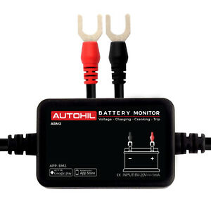 New 12v Vehicle Battery Monitor Via Bluetooth 4 0 Voltage Meter Tester W Alarm