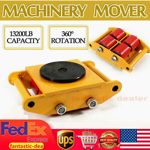 Heavy Duty Machine Dolly Skate Machinery Roller Mover Cargo Trolley 13200lb 6ton