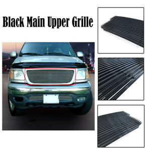 Black Main Upper Grille Insert For 1999 2003 Ford F150 Lightning Harley Exdition