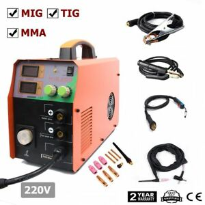 Mig 220v 200amp Welder Inverter Mig Welding Machine Stick Mma Tig 3in1 troch
