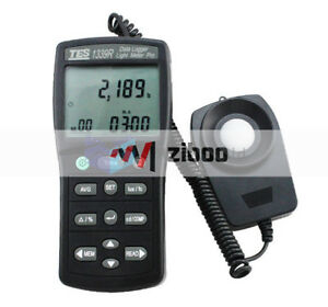 Tes 1339r Data Logger Light Meter Tester 0 01 To 999900 Lux Pc Data Record