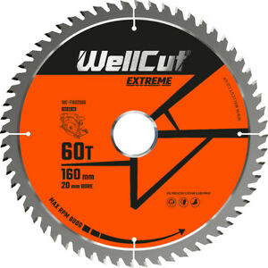 Wellcut Tct Saw Blade 160mm X 60t X 20mm Bore Suitable For Festool Ts55