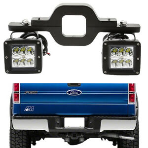 Fit Pickup Truck Suv 3 24w Led Light Backup Reverse Trailer Tow Hitch Bracket