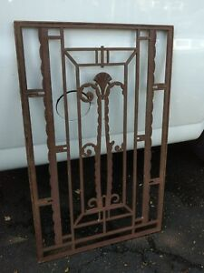 Antique Art Deco Architectural Salvage Cast Iron Panel