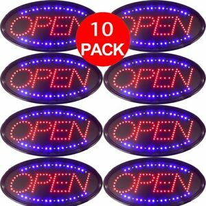 10 X Ultra Bright Business Sign Led Neon Light Animated Motion W On off Open Ma