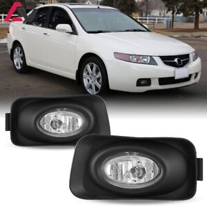 For 2003 2005 Acura Tsx Fog Lights Wiring Switch And Bezels Kit Clear Lens