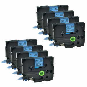 8 Pack Tz 541 Tze 541 Black On Blue Label Tape Replacement For Brother P touch