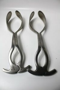 lot Of 2 Witte 92 2912 00 Laufe Obstetrical Forceps