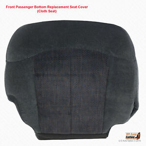 1999 2000 2001 2002 Chevy Silverado Passenger Bottom Graphite Cloth Seat Cover