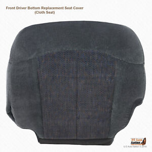 1999 2000 2001 2002 Chevy Silverado Driver Bottom Dark Graphite Cloth Seat Cover